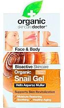 Düfte, Parfümerie und Kosmetik Beruhigendes Gesichts- und Körpergel mit Schneckenextrakt - Dr. Organic Bioactive Skincare Snail Gel