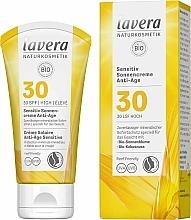 Düfte, Parfümerie und Kosmetik Anti-Aging Sonnenschutzcreme für das Gesicht SPF 30 - Lavera Sensitive Sun Cream Anti-Age SPF 30