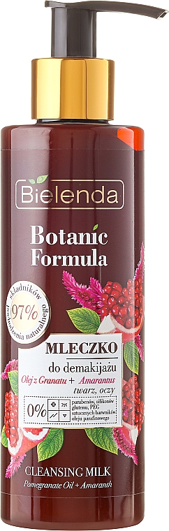 Gesichtsreinigungsmilch - Bielenda Botanic Formula Pomegranate Oil + Amaranth Cleansing Milk