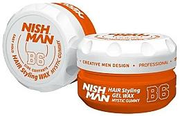 Düfte, Parfümerie und Kosmetik Haarstyling-Gel B6 - Nishman Hair Styling Gel Wax B6 Mystic Gummy