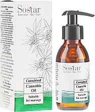 Düfte, Parfümerie und Kosmetik Feuchtigkeitsspendendes Massageöl mit Bio Hanföl und Lavendelextrakt - Sostar Cannabidiol Oil Cannabis Extract