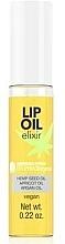 Düfte, Parfümerie und Kosmetik Hypoallergenes und feuchtigkeitsspendendes Lippenöl mit Hanfsamen-, Aprikosenkern- und Arganöl - Bell Hypoallergenic Lip Oil Elixir