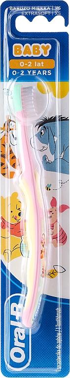 Kinderzahnbürste 0-2 Jahre extra weich Tiger rosa-weiß - Oral-B Baby