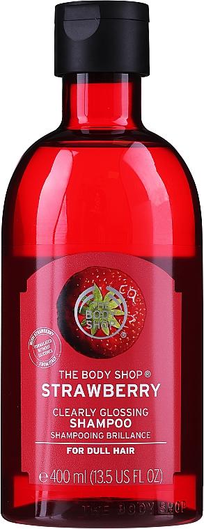 Shampoo mit Erdbeerenextrakt für stumpfes Haar - The Body Shop Strawberry Clearly Glossing Shampoo — Bild N1