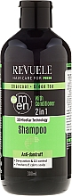 Düfte, Parfümerie und Kosmetik 2in1 Anti-Schuppen Shampoo & Duschgel für Männer - Revuele Men Charcoal + Green Tea 2in1 Shampoo