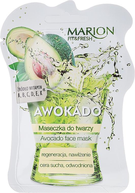 Feuchtigkeitsspendende und regenerierende Gesichtsmaske mit Avocado - Marion Fit & Fresh Avocado Face Mask