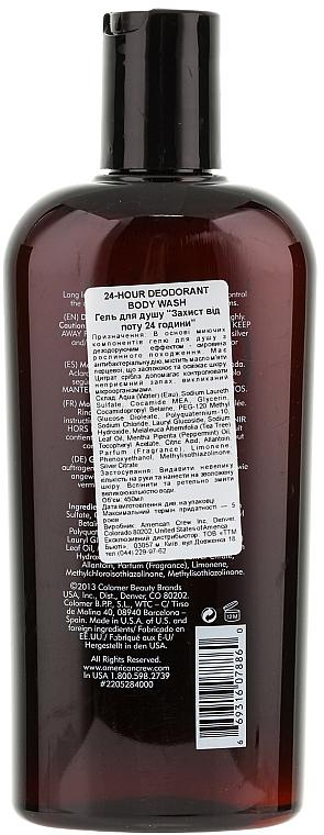 Duschgel mit 24 Stunden Schutz vor Körpergeruch - American Crew Classic 24-Hour Deodorant Body Wash — Bild N2