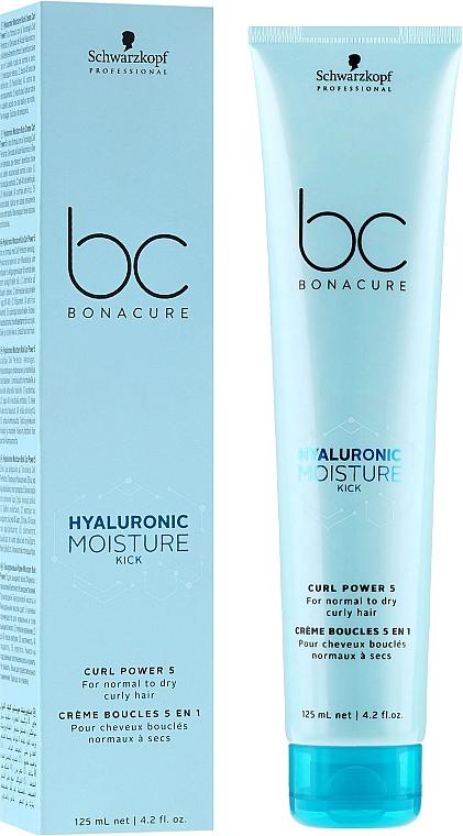 Feuchtigkeitsspendende Creme für lockiges Haar - Schwarzkopf Professional Bonacure Hyaluronic Moisture Kick Curl Power 5