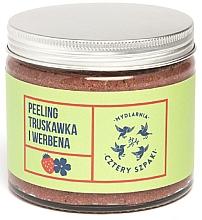Düfte, Parfümerie und Kosmetik Körperpeeling mit Erdbeere und Eisenkraut - Cztery Szpaki