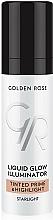 Düfte, Parfümerie und Kosmetik Flüssiger Primer & Highlighter - Golden Rose Liquid Glow Illuminator Tinted Prime & Highlight