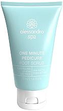 Düfte, Parfümerie und Kosmetik Fußpeeling mit Meersalz und Sheabutter - Alessandro International Spa One Minute Pedicure Foot Scrub