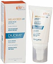 Düfte, Parfümerie und Kosmetik Schutzende Gesichtscreme gegen Hyperpigmentierung für normale bis Mischhaut SPF 50+ - Ducray Melascreen UV Rich Cream SPF 50+