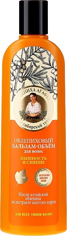 Haarspülung für mehr Volumen und Glanz mit Sanddornöl und Rosenwurzextrakt - Rezepte der Oma Agafja