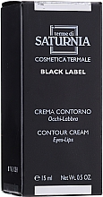 Düfte, Parfümerie und Kosmetik Creme für den Augen- und Lippenkonturenbereich - Terme Di Saturnia Black Label Contour Cream Eyes And Lips