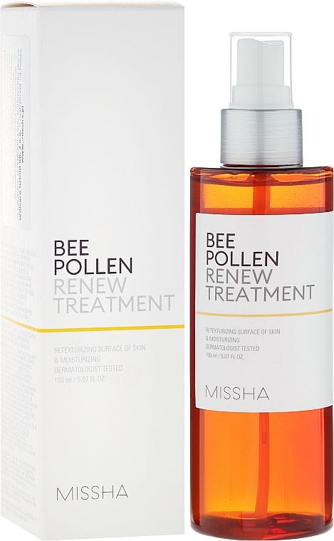 Zellregenerierendes Gesichtstonikum mit Blütenpollenextrakt für sensible Haut - Missha Bee Pollen Renew Treatment