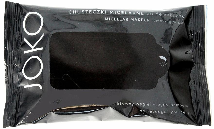 Mizellen-Reinigungstücher zum Abschminken mit Aktivkohle - Joko Micellar