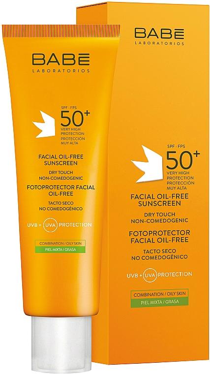 Sonnenschutzcreme für fettige und gemischte Gesichtshaut SPF 50+ - Babe Laboratorios Fotoprotector Facial Sunscreen
