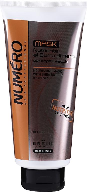 Nährende Haarmaske mit Sheabutter für trockenes Haar - Brelil Numero Nourishing Cream With Shea Butter