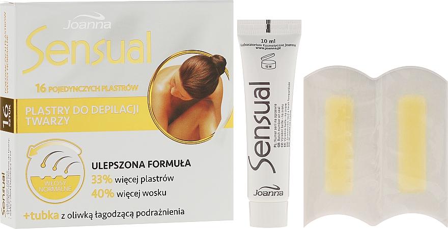 Enthaarungswachsstreifen für das Gesicht - Joanna Sensual Dipilatory Face Strips Normal Hair