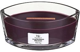 Düfte, Parfümerie und Kosmetik Duftkerze im Glas Spiced Blackberry - Woodwick Hearthwick Flame Ellipse Candle Spiced Blackberry