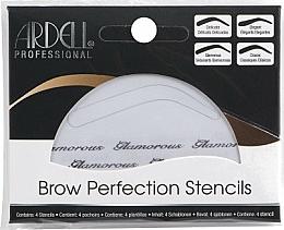 Düfte, Parfümerie und Kosmetik Augenbrauenschablonen 4 St. - Ardell Brow Perfection Stencils