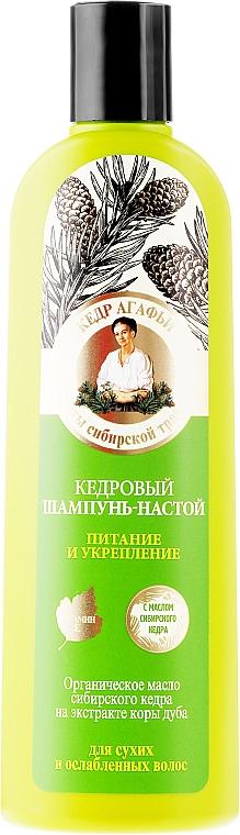 Stärkende und nährende Shampoo-Tinktur mit Zedernöl - Rezepte der Oma Agafja