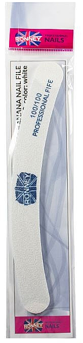 Nagelfeile 100/100 weiß RN 00255 - Ronney Professional
