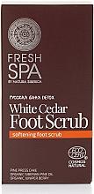 Düfte, Parfümerie und Kosmetik Entspannendes Fußpeeling mit weißer Zeder - Natura Siberica Fresh Spa Russkaja Bania Detox White Cedar Foot Scrub