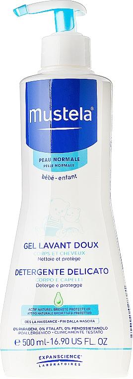 Mildes und aufweichendes Haar- und Körperwaschgel für Kinder und Babys - Mustela Dermo-Cleansing — Bild N3