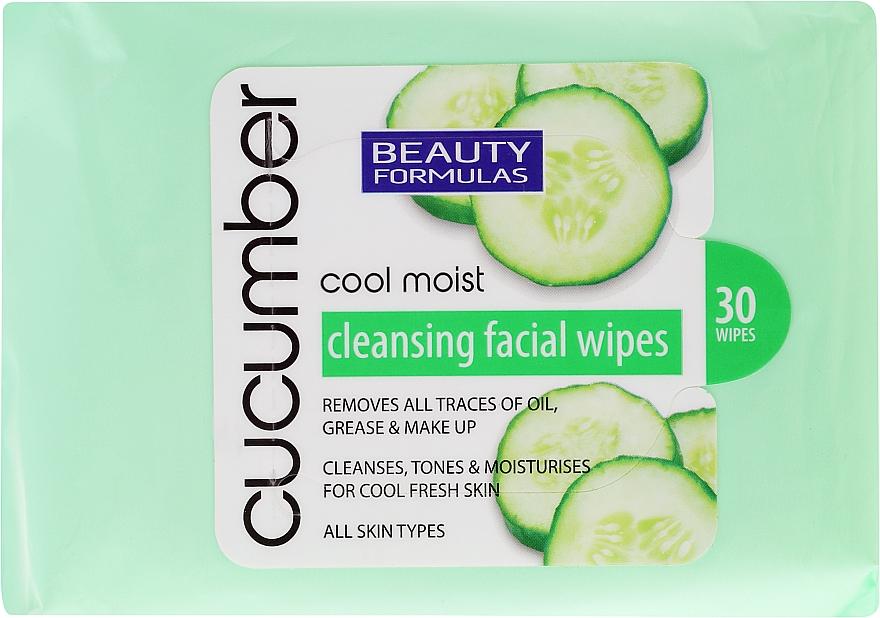 Make-up-Entfernungstücher mit Gurkenextrakt 20 St. - Beauty Formulas Cucumber Cleansing Facial Wipes