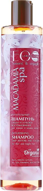 Pflegendes und regenerierendes Volumen-Shampoo - ECO Laboratorie Macadamia SPA Shampoo