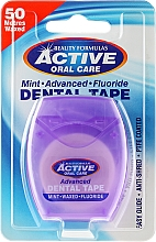 Düfte, Parfümerie und Kosmetik Gewachste Zahnseide mit Minzgeschmack und Fluorid 50 m - Beauty Formulas Active Oral Care Advanced Mint Waxed Fluor 50 m