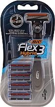 Düfte, Parfümerie und Kosmetik Rasierer Flex 3 Hybrid mit 4 Ersatzklingen - Bic Flex 3 Hybrid