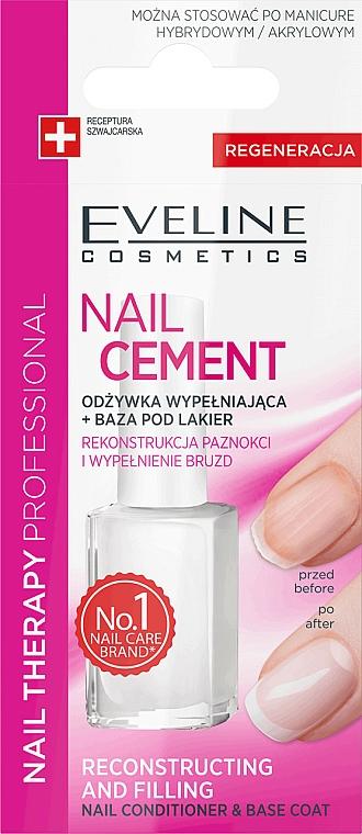 2in1 Nagelconditioner und -unterlack - Eveline Cosmetics Nail Cement Conditioner & Base Coat