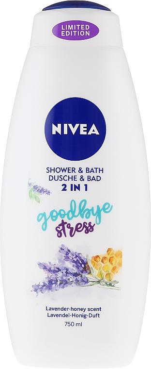 Pflegedusche und seidiges Cremebad 2in1mit Lavendel-Honig-Duft - Nivea Goodbye Stress Body Wash Limited Edition