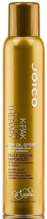 Farbschützendes trockenes Haaröl-Spray für dünnes Haar - Joico K-Pak Color Therapy Dry Oil Spray