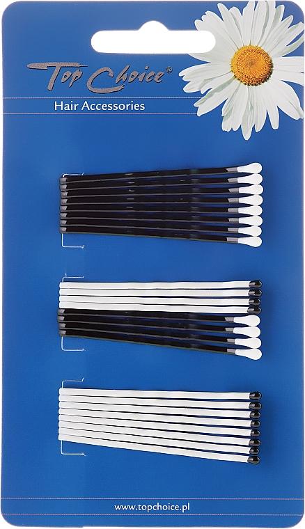 Haarnadeln weiß-schwarz 24 St. - Top Choice