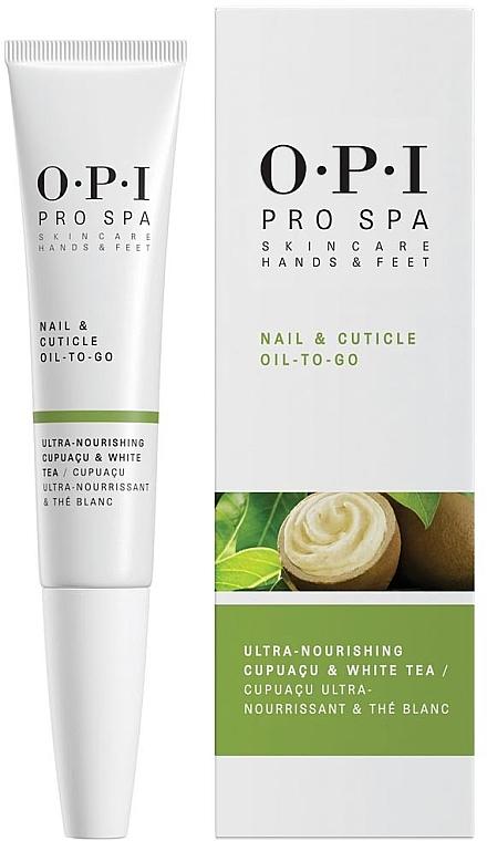 Nagel- und Nagelhautöl mit Cupuacu und weißem Tee - O.P.I. ProSpa Nail & Cuticle Oil To Go