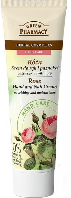"Pflegende Hand- und Nagelcreme ""Rose"" - Green Pharmacy"