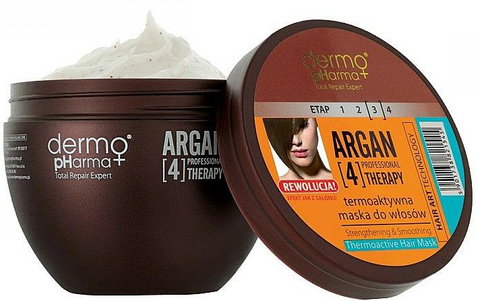 Thermoaktive Haarmaske mit Arganöl und Keratin - Dermo Pharma Argan Professional 4 Therapy Strengthening & Smoothing Mask
