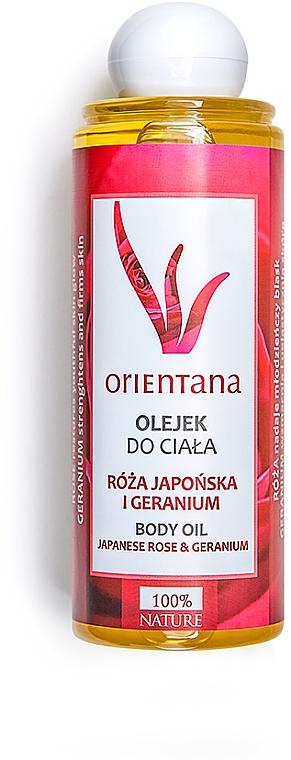 Körperöl mit Japan-Rose und Storchschnäbel - Orientana Japanese Rose And Geranium Body Oil