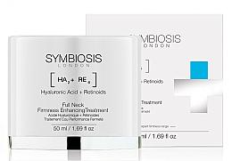 Düfte, Parfümerie und Kosmetik Gesichts- und Halskonturcreme mit Hyaluronsäure und Retinoiden - Symbiosis London Full Neck Firmness Enhancing Treatment