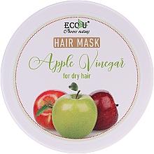 Düfte, Parfümerie und Kosmetik Haarmakse mit Apfelessig für trockenes Haar - ECO U Apple Vinegar Hair Mask For Dry Hair