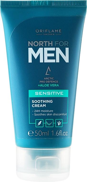 Feuchtigkeitsspendende Gesichtscreme für empfindliche Haut - Oriflame Norht For Men Sensitive Soothing Cream — Bild N1