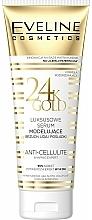 Düfte, Parfümerie und Kosmetik Luxuriöses modellierendes Anti-Cellulite Serum für Bauch, Oberschenkel und Gesäß - Eveline Cosmetics Slim Therapy 24kGold