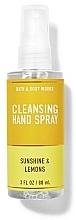 Düfte, Parfümerie und Kosmetik Handreinigungsspray Sonnenschein und Zitronen - Bath And Body Works Cleansing Hand Spray Sunshine and Lemons