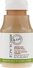 Düfte, Parfümerie und Kosmetik Glättende Haarmilch mit Honig und Hafer - Biolage R.A.W. Smoothing Styling Milk