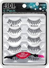 Düfte, Parfümerie und Kosmetik Set Künstliche Wimpern - Ardell 5 Pack Babies Black