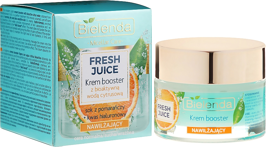 Feuchtigkeitsspendende Gesichtscreme-Booster für trockene und empfindliche Haut - Bielenda Fresh Juice Booster