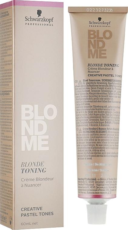 Tonercreme für blondes Haar - Schwarzkopf Professional BlondMe Blonde Toning